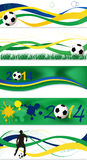 Football banners Stock Images