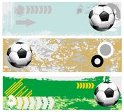 Football banners set Royalty Free Stock Photography