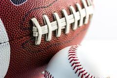Football and baseball balls Stock Photography