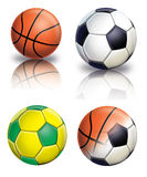 Football and Basketball. Ball Football and Basketball mix color Stock Photo
