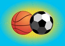 Football and basketball Stock Image