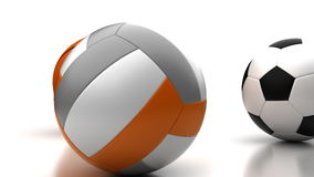 Football, Basketball and Volleyball stock video