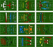 Football Battlefields Royalty Free Stock Images