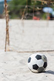 Football on the beach Royalty Free Stock Photography