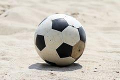 Football and beach. Football on a Beach. Summer time stock photos