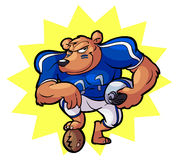 Football bear mascot Royalty Free Stock Photography