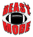Football Beast Mode Royalty Free Stock Photo