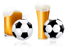 Football and beer Stock Photos