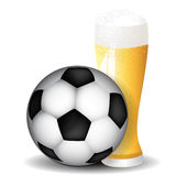 Football and beer background Royalty Free Stock Photography