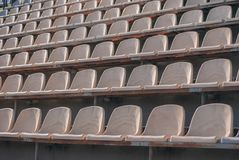 Football bench for football fans royalty free stock photo