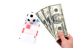 Football Bet Royalty Free Stock Photos