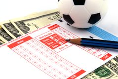 Football Bet Slip Stock Photos