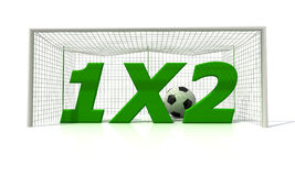 Football betting. Conceptual image of football betting - rendering Stock Photo