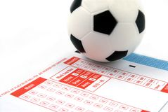Football Betting. Slip Royalty Free Stock Photos