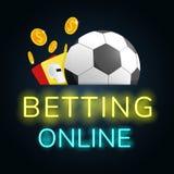Football betting online make money vector. Football betting online make money royalty free illustration
