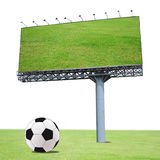Football with a billboard Stock Photos