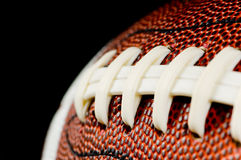 Football on Black Royalty Free Stock Images