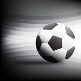 Football on Black background Design Vector illustration Royalty Free Stock Image