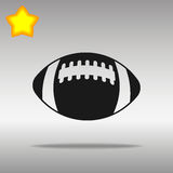 Football black Icon button logo symbol Royalty Free Stock Images