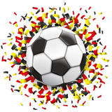 Football Black Red Yellow Confetti Germany Stock Photography