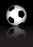 Football - On Black Reflective Background stock photography