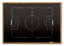 Football blackboard Stock Photos