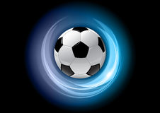 Football blue Stock Images