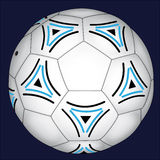 Football with Blue and Black Decorations royalty free stock photo