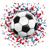 Football Blue Red Confetti France Stock Photography