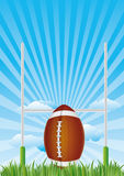 football with blue sky Royalty Free Stock Image
