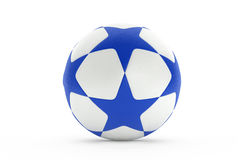 Football with blue stars texture Royalty Free Stock Photos