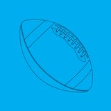 Football blueprint. Blueprint drawing of a football Royalty Free Stock Photos
