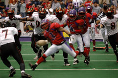 Football blur. An arena football play with motion blur