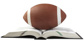 Football and book Royalty Free Stock Photography