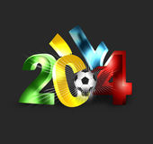 2014 football boom. 2014 football 3d dark background vector illustration