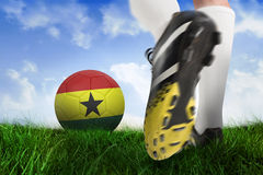 Football boot kicking ghana ball Stock Photography
