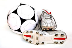 Football boots. On the white background Stock Photo