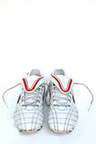 Football boots. On the white background Stock Photography