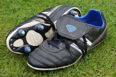 Football Boots. A pair of leather football boots stock photography