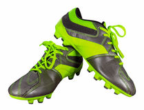 Football boots isolated. On white with Clipping Path Royalty Free Stock Photos