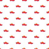Football boots pattern, cartoon style Stock Images