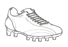 Football boots sketch Royalty Free Stock Photography