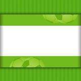 Football border background on green Royalty Free Stock Photos