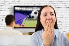 Football bores me Royalty Free Stock Image