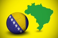 Football in bosnia and herzegovina colours Stock Images