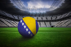 Football in bosnia and herzegovina colours Royalty Free Stock Photography