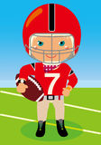 Football boy. Vector illustration of  Football boy Stock Photography