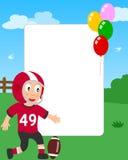 Football Boy Photo Frame Stock Image