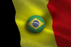 Football in brasil colours Royalty Free Stock Photography