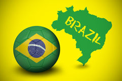 Football in brasil colours Royalty Free Stock Images